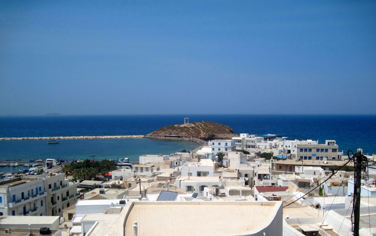 The white houses of Naxos