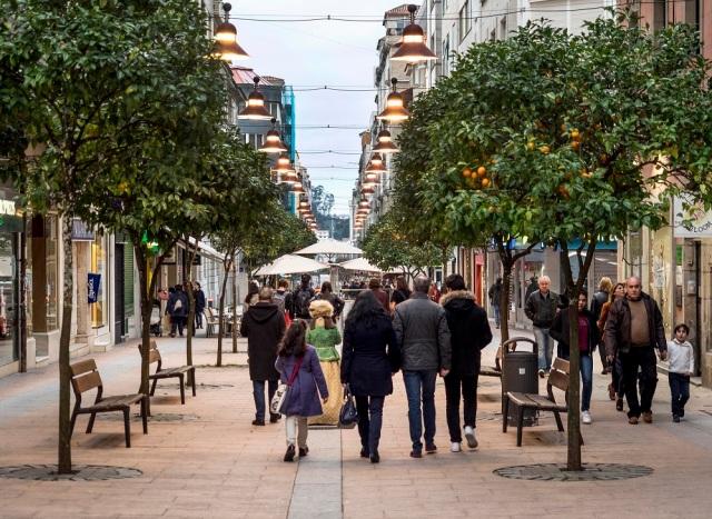 Pontevedra autofrei Spanien